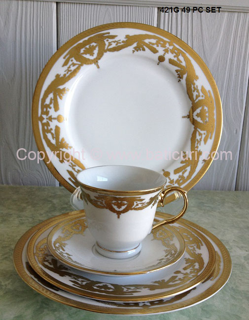 Dinner Set-Gold (8 person-49 pcs)